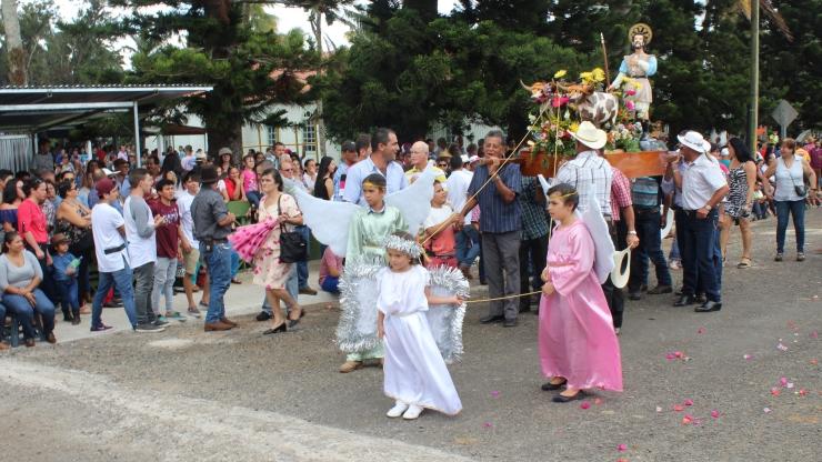 parade gets under way